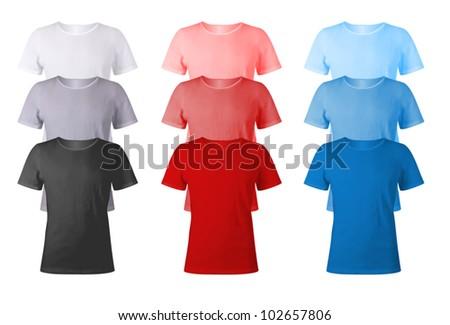 Men t-shirts blank template.