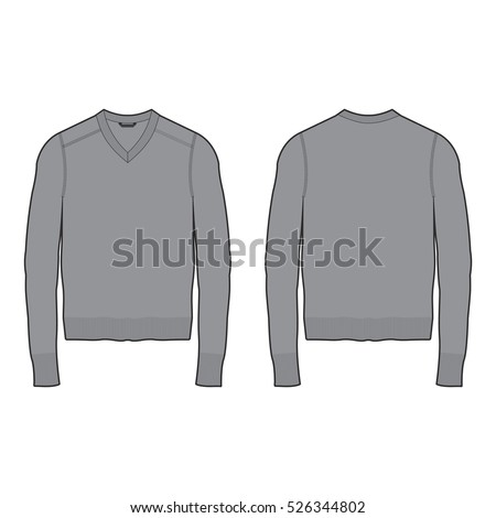 Vector Images, Illustrations and Cliparts: Men V-neck Sweater ...