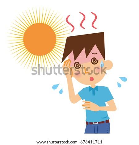 Men with heat stroke.