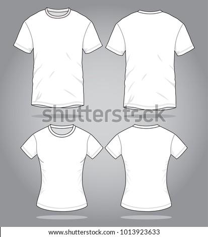 Men & Women Pink T Shirt vector  for template