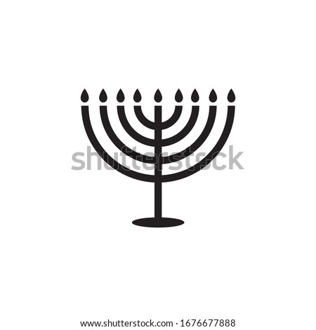 Menorah icon design isolated on white background Stok fotoğraf ©