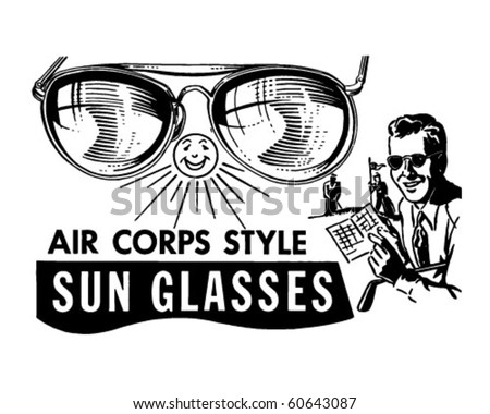 clipart sunglasses. Corps Sunglasses - Retro