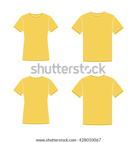 mens and womens yellow short