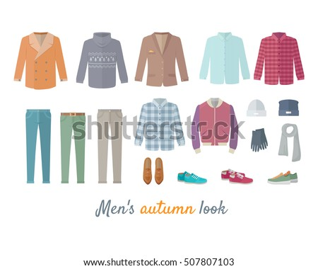 mens autumn look apparel set