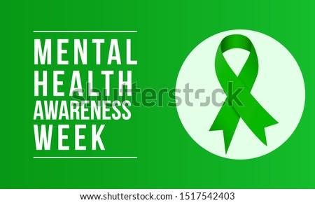 Mental Health Awareness an annual campaign highlighting awareness of mental health. Vector design illustration. Сток-фото ©