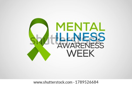 Mental Health Awareness week an annual campaign highlighting awareness of mental health observed each year during the first full week of October. Vector design illustration.