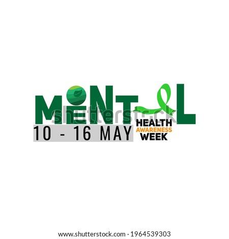 mental health awareness week web banner design. illustration vector Stockfoto ©