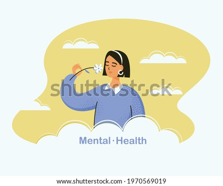 mental health concept young
