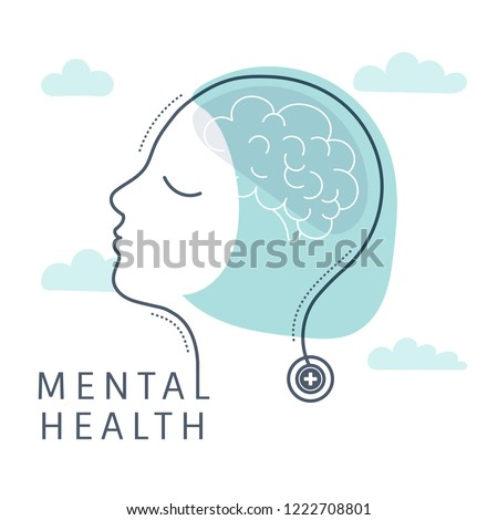 Mental health for women vector