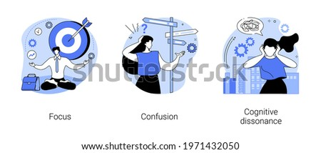 Mental state abstract concept vector illustrations. ストックフォト ©