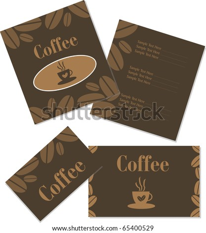 Coffee Shop Business Cards Design Menu And Business Card Design