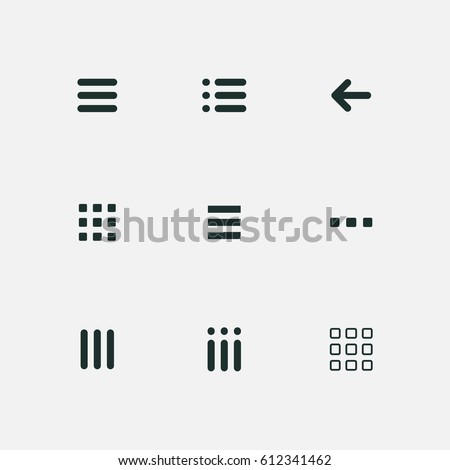 menu and ui icons set vector