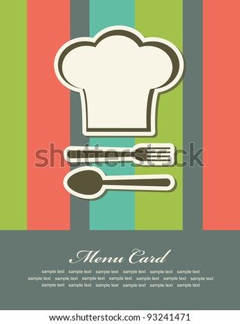 menu card cute design. vector illustration
