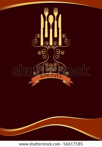 Menu card template stock vector illustration 56617585 for Frequent diner card template
