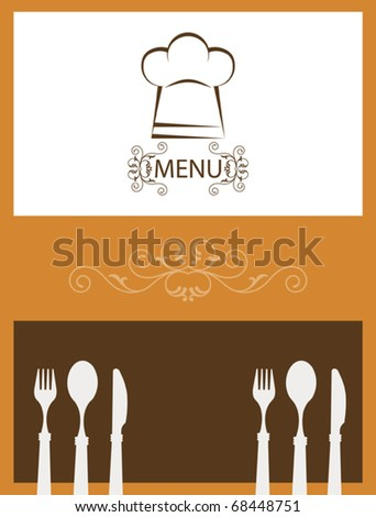 frequent diner card template - menu card template stock vector illustration 68448751