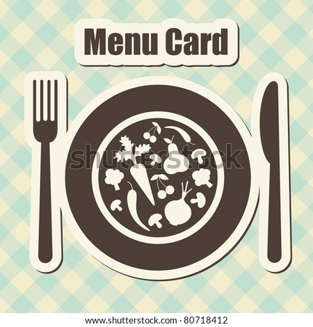 menu card. vector illustration
