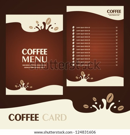 menu coffee card