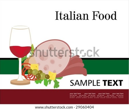Menu Cover Template In Italian Style Stock Vector ...