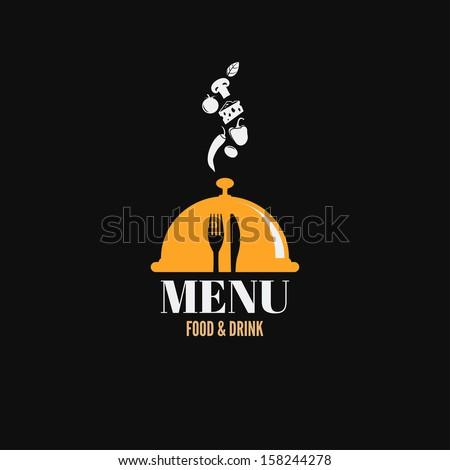 Menu Design Food Drink Dishes Concept