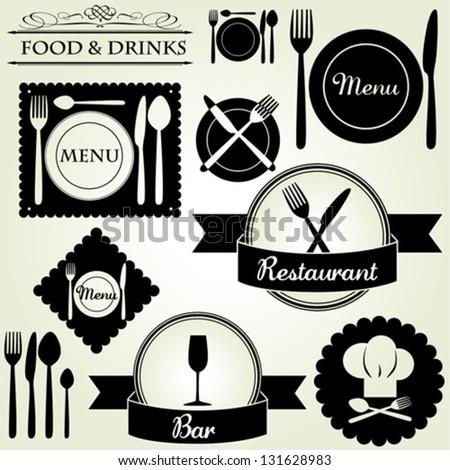 Restaurant and bar labels