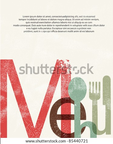 Menu. Design print background