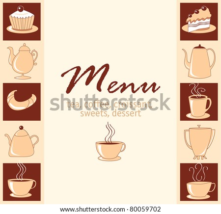 Menu for cafe a vector