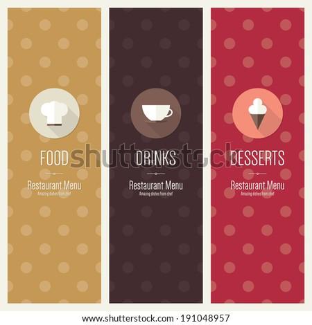 Menu for restaurant cafe bar coffee house