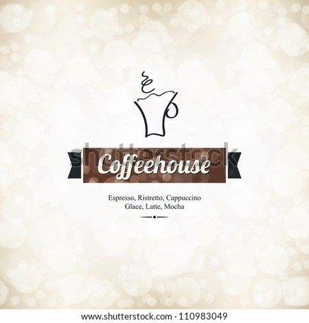 Menu for restaurant cafe bar coffeehouse
