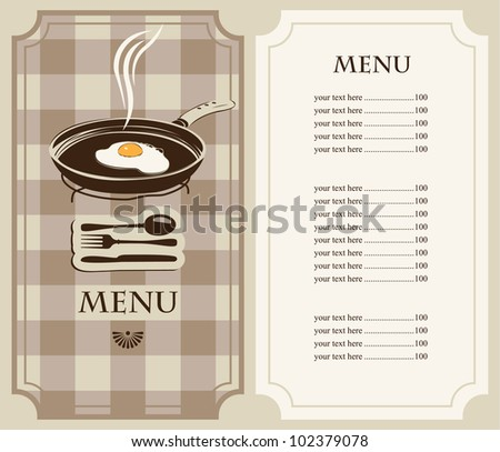 menu fried eggs in frying pan