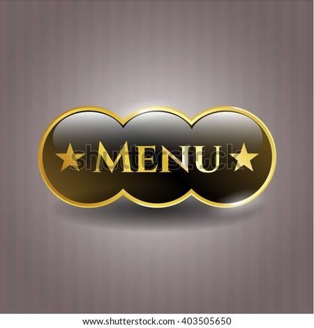 Menu gold badge
