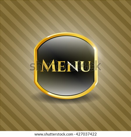 Menu gold emblem