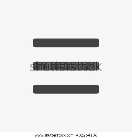 Menu Icon in trendy flat style isolated on grey background, for your web site design, app, logo, UI. Vector illustration, EPS10.