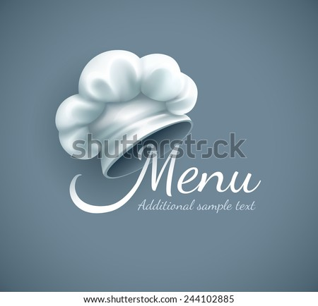 menu logo with chef cap eps10