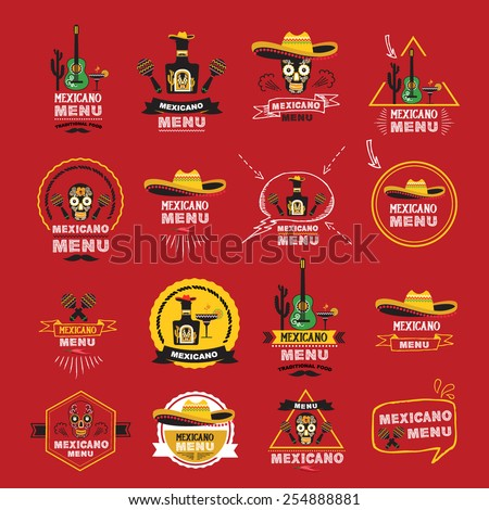 Menu mexican design.Vector illustration