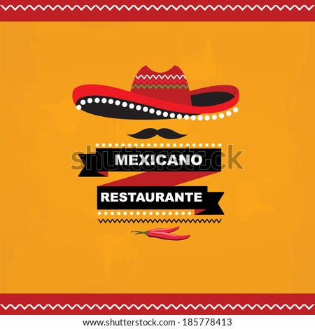 Menu mexican template design.Vector illustration