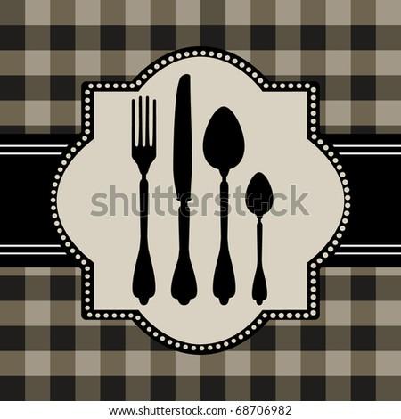 Menu of food card