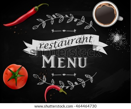 menu on chalkboard