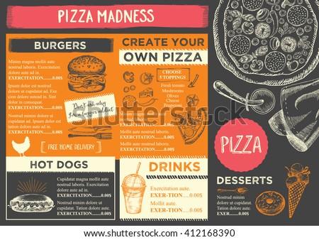 Menu placemat food restaurant brochure menu template for Design your own restaurant