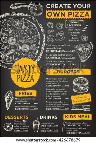 Menu Placemat Food Restaurant Brochure, Menu Template ...