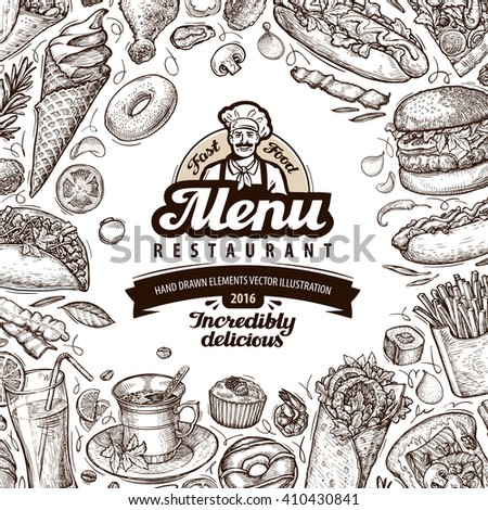 menu restaurant  cafe template