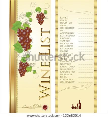 Wine List Template Free wine list template free vector wine list – Free Wine List Template