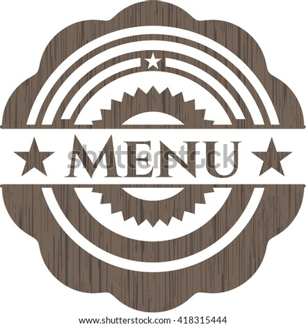 Menu wooden emblem