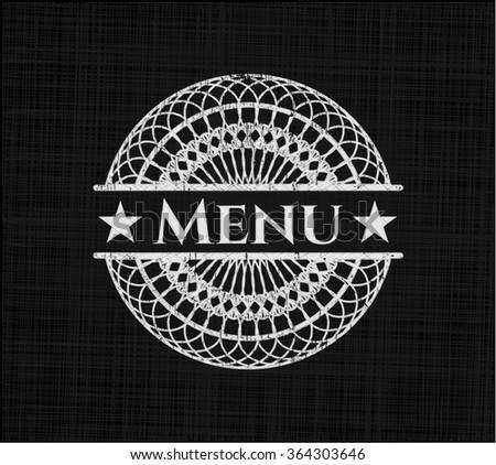 Menu written with chalkboard texture