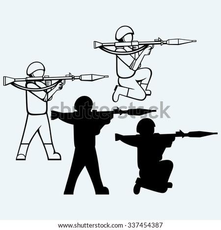 mercenary shoot with a bazooka