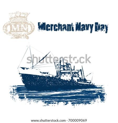 merchant navy day. vintage...