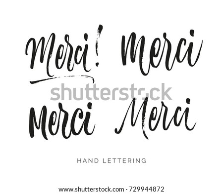 merci french word meaning
