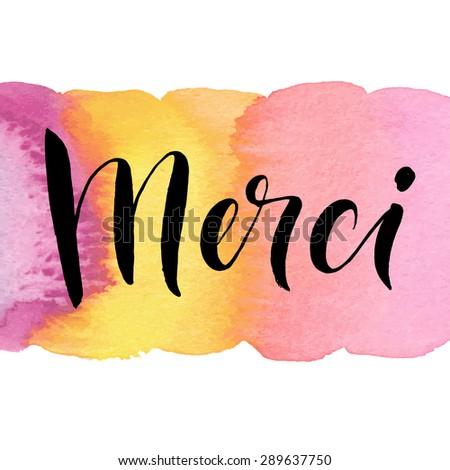 merci  ink hand lettering