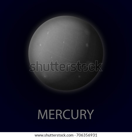 mercury realistic planet of