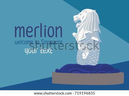 merlion one of landmark