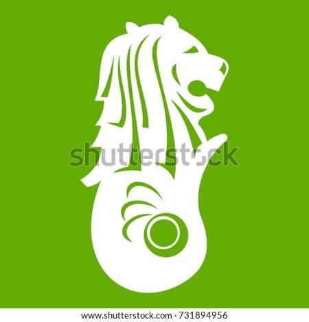 merlion statue  singapore icon